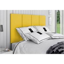 Cabeceira Painel 4 Placas Para Cama Box Casal Queen 160 cm Suede Animale Amarelo - TES Decor