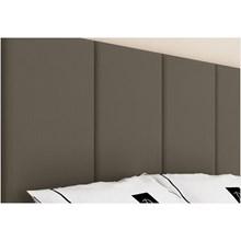 Cabeceira Painel 4 Placas Para Cama Box Casal Queen 160 cm Suede Chocolate - TES Decor