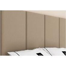 Cabeceira Painel 4 Placas Para Cama Box Casal Queen 160 cm Suede Marfim - TES Decor