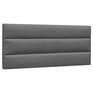 Cabeceira Painel Cama Box Casal 140cm Grécia Suede Cinza Escuro - Mpozenato