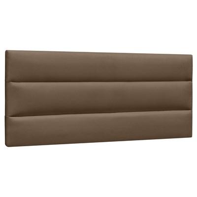 Cabeceira Painel Cama Box Casal 140cm Grécia Suede D05 Marrom Chocolate - Mpozenato