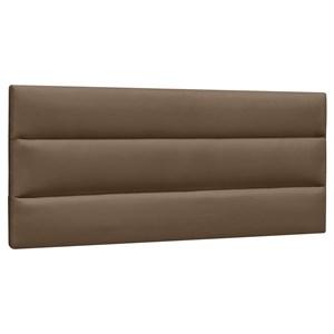 Cabeceira Painel Cama Box Casal 140cm Grécia Suede Marrom Chocolate - Mpozenato
