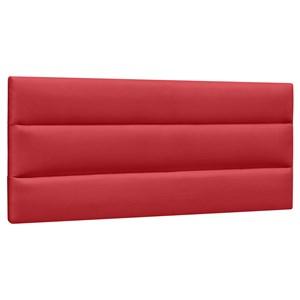 Cabeceira Painel Cama Box Casal 140cm Grécia Suede Vermelho - Mpozenato