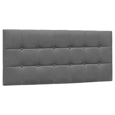 Cabeceira Painel Cama Box Casal 140cm Sleep Suede D05 Cinza Escuro - Mpozenato
