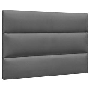 Cabeceira Painel Cama Box Solteiro 90cm Grécia Suede Cinza Escuro - Mpozenato