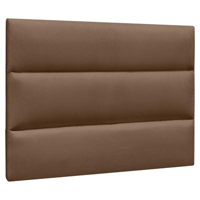 Cabeceira Painel Cama Box Solteiro 90cm Grécia Suede D05 Marrom Chocolate - Mpozenato