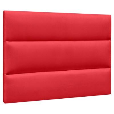 Cabeceira Painel Cama Box Solteiro 90cm Grécia Suede D05 Vermelho - Mpozenato