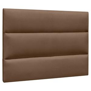Cabeceira Painel Cama Box Solteiro 90cm Grécia Suede Marrom Chocolate - Mpozenato