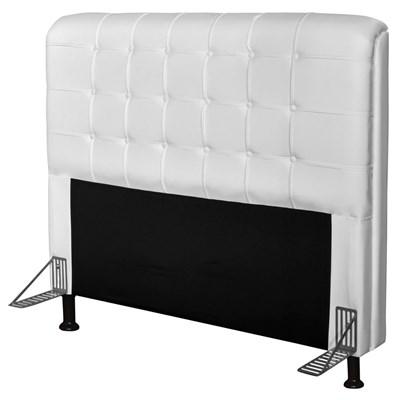 Cabeceira Para Cama Box Casal 140 cm Califórnia Corano Branco - JS Móveis