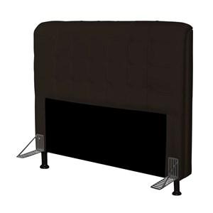 Cabeceira Para Cama Box Casal 140 cm Califórnia Corino Marrom - JS Móveis