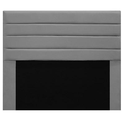 Cabeceira Para Cama Box Casal 140cm Rubi D10 Suede Cinza - Mpozenato