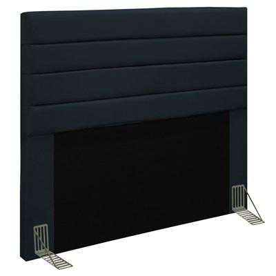 Cabeceira Para Cama Box Casal 140cm Rubi D10 Suede Preto - Mpozenato