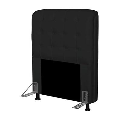 Cabeceira Para Cama Box Solteiro 90 cm Califórnia Corano Preto - JS Móveis