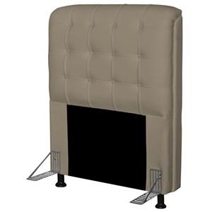 Cabeceira Para Cama Box Solteiro 90 cm Califórnia Corino Areia - JS Móveis