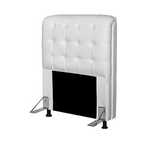 Cabeceira Para Cama Box Solteiro 90 cm Califórnia Corino Branco - JS Móveis