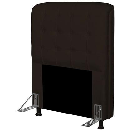 Cabeceira Para Cama Box Solteiro 90 cm Califórnia Corino Marrom - JS Móveis