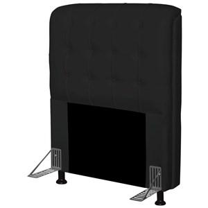 Cabeceira Para Cama Box Solteiro 90 cm Califórnia Corino Preto - JS Móveis
