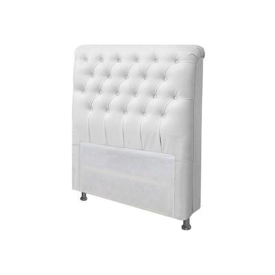 Cabeceira para Cama Box Solteiro 90 cm Paris Corano Branco - JS Móveis
