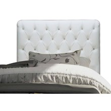 Cabeceira para Cama Box Solteiro 90 cm Paris Corino Branco - JS Móveis