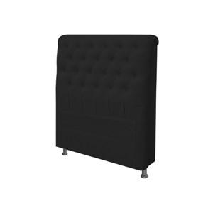 Cabeceira para Cama Box Solteiro 90 cm Paris Corino Preto - JS Móveis