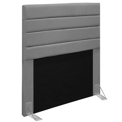 Cabeceira Para Cama Box Solteiro 90CM Rubi D10 Suede Cinza - Mpozenato