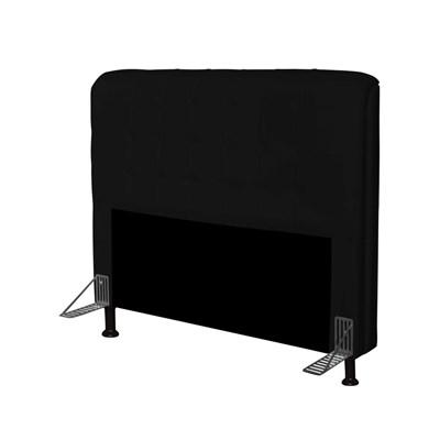 Cabeceira Para Cama Casal Box 160 cm Califórnia Corano Preto - JS Móveis