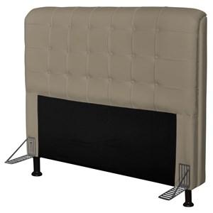 Cabeceira Para Cama Casal Box 160 cm Califórnia Corino Areia - JS Móveis