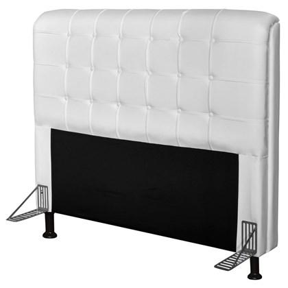 Cabeceira Para Cama Casal Box 160 cm Califórnia Corino Branco - JS Móveis