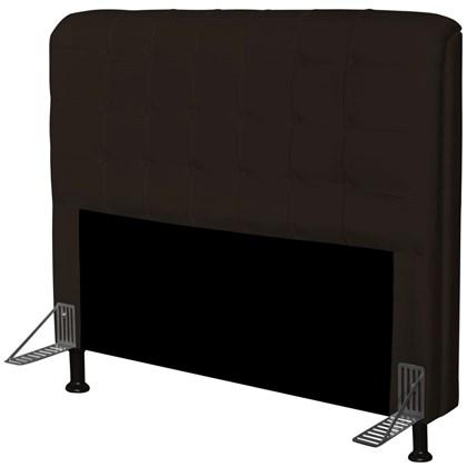 Cabeceira Para Cama Casal Box 160 cm Califórnia Corino Marrom - JS Móveis