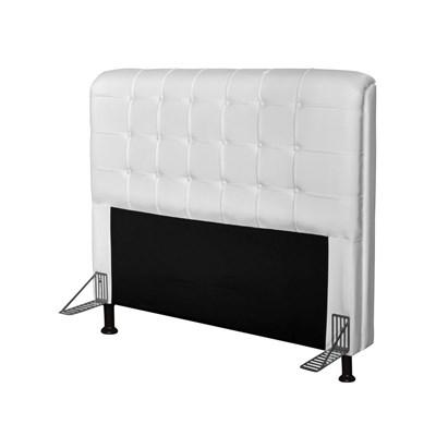 Cabeceira Para Cama Casal Box 195 cm Califórnia Corano Branco - JS Móveis