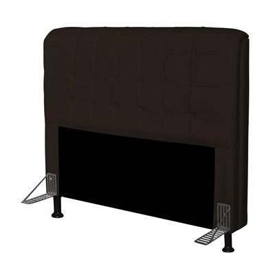 Cabeceira Para Cama Casal Box 195 cm Califórnia Corano Marrom - JS Móveis