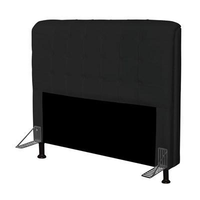 Cabeceira Para Cama Casal Box 195 cm Califórnia Corano Preto - JS Móveis