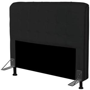 Cabeceira Para Cama Casal Box 195 cm Califórnia Corino Preto - JS Móveis