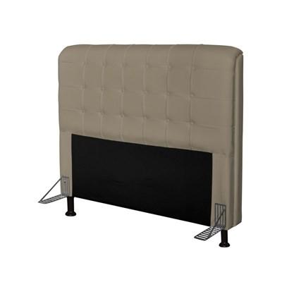 Cabeceira Para Cama Casal Box Califórnia 195 cm Corino Areia - JS Móveis