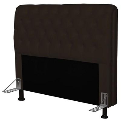 Cabeceira Paris Para Cama Box Casal 140 cm Paris Corano Marrom - JS Móveis
