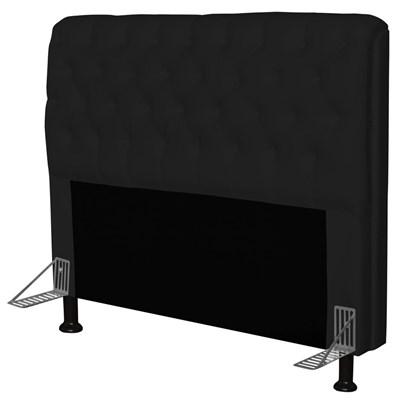 Cabeceira Paris Para Cama Box Casal 140 cm Paris Corano Preto- JS Móveis