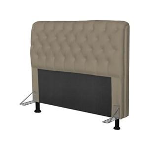 Cabeceira Paris Para Cama Box Casal 140 cm Paris Corino Areia - JS Móveis