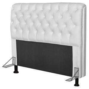Cabeceira Paris Para Cama Box Casal 140 cm Paris Corino Branco - JS Móveis