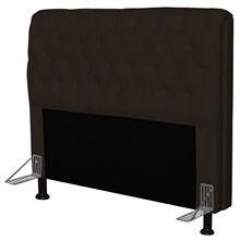 Cabeceira Paris Para Cama Box Casal 140 cm Paris Corino Marrom - JS Móveis
