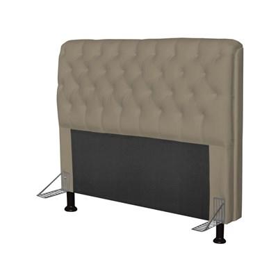 Cabeceira Paris Para Cama Box Casal 160 cm Paris Corino Areia - JS Móveis