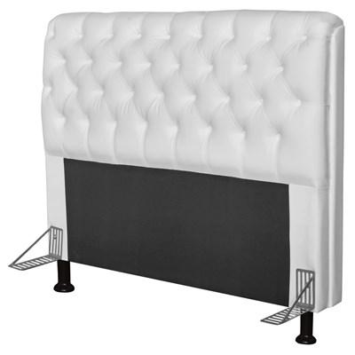 Cabeceira Paris Para Cama Box Casal 160 cm Paris Corino Branco - JS Móveis