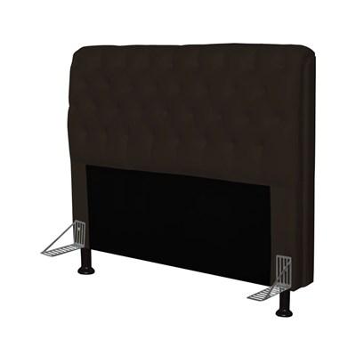 Cabeceira Paris Para Cama Box Casal 195 cm Paris Corano Marrom - JS Móveis