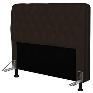 Cabeceira Paris Para Cama Box Casal 195 cm Paris Corino Marrom - JS Móveis