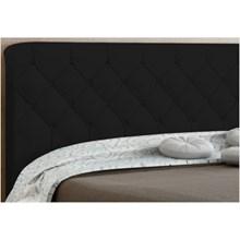 Cabeceira Paris para Cama Box Solteiro 90 cm Preto Suede Amassado - JS Móveis