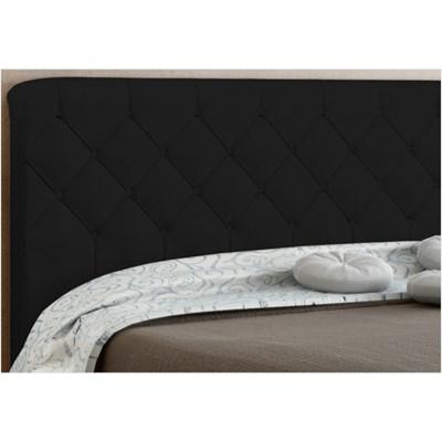 Cabeceira Paris para Cama Casal Box 160 cm Preto Suede Amassado - JS Móveis