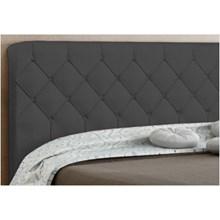 Cabeceira Paris para Cama Casal Box 195 cm Cinza Suede Amassado - JS Móveis
