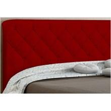 Cabeceira Paris para Cama Casal Box 195 cm Vermelho Suede Amassado - JS Móveis