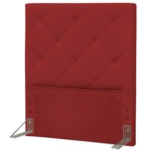 Cabeceira Solteiro 90 cm Oásis Corino Vermelho - D'Monegatto