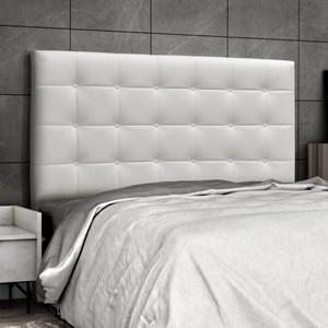 Cabeceira Solteiro 90 cm Sonhare Corino Branco - D'Monegatto