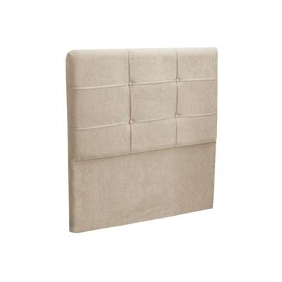 Cabeceira Solteiro Cama Box 90 cm London Bege - JS Móveis
